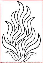 flammes grand feu à colorier dessins pinterest flamme