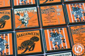vintage halloween coasters cheltenhamroad