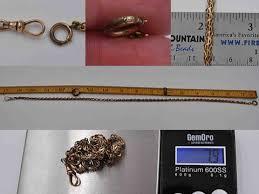 art deco dog ring holder images Vintage art deco fancy link watch chain necklace 10k gold filled jpg
