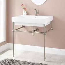 abril console sink with brass stand bathroom pinterest