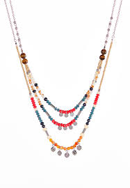 bead necklace long images Multi layered bead necklace necklaces cato fashions jpg