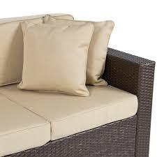 Resin Wicker Patio Furniture - outdoor wicker patio furniture sofa 3 seater luxury comfort brown