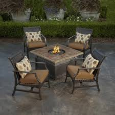 Fire Patio Table by Patio Inspiring Patio Furniture Fire Pit Excellent Brown