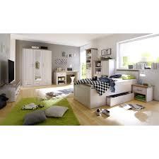 jugendzimmer g nstig kaufen jugendzimmer set luca pinie weiß 6tlg bett 90x200 cm