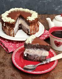 brownie la mode layer cake earthly taste