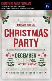 free office christmas party flyer templates 30 christmas flyer