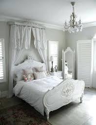 shabby chic bed frame bedroom rosy white pillow light black floor