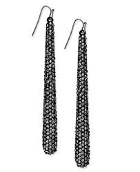 concepts earrings inc international concepts earrings hematite tone pave linear