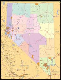 printable map of nevada nevada county map map of state of nevada with outline of the