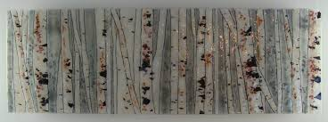 hand made into the woods birch glass fusing artwork by glass