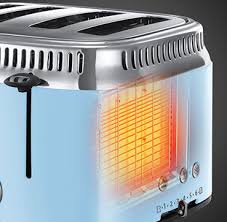 Blue 4 Slice Toaster Retro Heavenly Blue 4 Slice Toaster Russell Hobbs