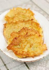 latke mix potato latkes with honey apple sauce for chanukah
