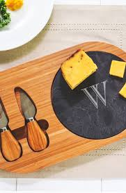 monogrammed cheese plate cathy s concepts monogram cheese board utensils nordstrom