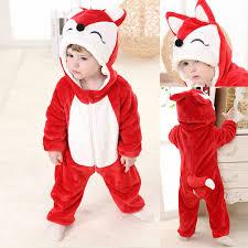 red fox cartoon animal baby kigurumi costume toddler onesies pajamas