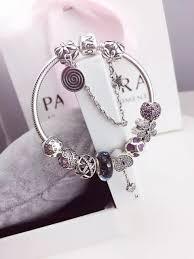 pandora bracelet sterling silver images Authentic pandora sterling silver bracelet with white crystal jpg