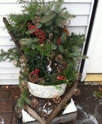 Christmas Garden Decorations garden decorations winter christmas greenery light chains