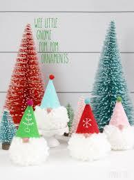 Gnome Ornament Christmas Wee Little Gnome Pom Pom Ornaments