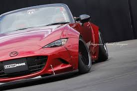 mazda miata stance aimgain gives new mazda mx 5 old wide body styling upgrade