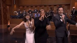 jimmy fallon rashida jones latifah sing parodies