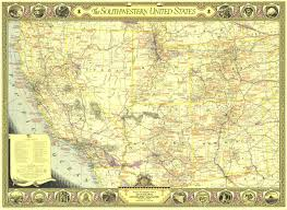 United State Map by Southwestern United States Map 1940 Maps Com