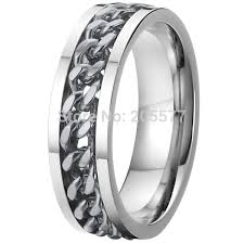 cool rings for men buy high quality silve color cool unique titanium rotating