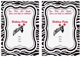 cheerleading birthday invitations u2013 birthday printable