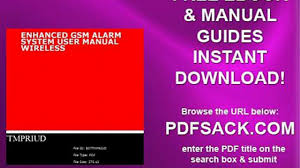 enhanced gsm alarm system user manual wireless video dailymotion