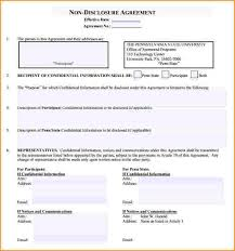 non disclosure agreement templates employee non disclosure