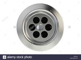 top view of kitchen sink drain round plug hole 3d rendering