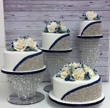 silver wedding cakes silver and navy wedding cake 19 cakes cakesdecor