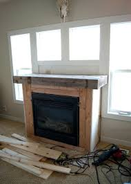 fireplace makeover reclaimed wood mantel averie lane