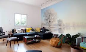 Dining Room Murals Winter Wall Murals Bring The Magic Of The Season Indoors