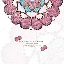 Cover Invitation Card Wedding Invitation Delicate Floral Pattern Vector Background