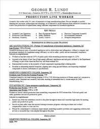 Assembly Resume Sample by Production Line Worker Resume Examples Creative Resume Design