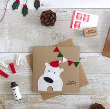 polar bear christmas card handmade kids felt xmas cards cute