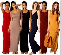 2016 stylish women vest tank maxi dress silk stretchy casual