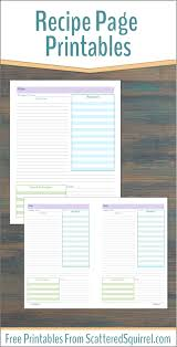 free printable recipe pages organize your recipes with these handy recipe page printables