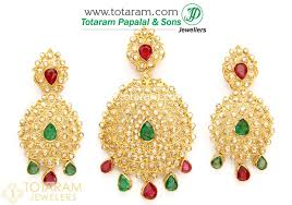 ruby drop earrings 22k gold diamond pendant drop earrings set with ruby