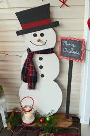 wooden snowman painted wood snowman