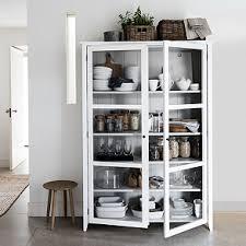 white glass storage cabinet glass display cabinet wardrobes storage the white company uk