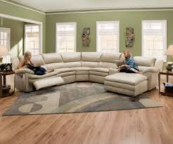 Sectional With Recliner Modern Curved Sectional Sofa Maximizing The Use Of Curved