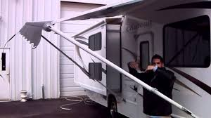 Trailer Awning Parts Awning How To Operate Rv Travel Trailer Or Motor Home Youtube