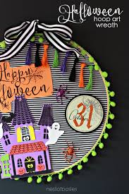 halloween hoop wreath a fun kids craft project to make free happy