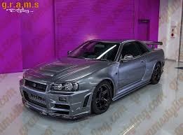 nissan r34 black nissan r34 gt r nismo style sidesteps side skirt extensions