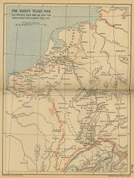 Map Netherlands Of The Thirty Years U0027 War 1620 1648
