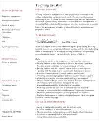teaching resume templates 9 preschool resume templates pdf doc free premium
