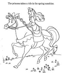princess aurora princess aurora riding horse coloring