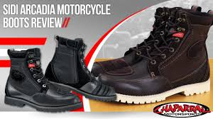 high end motorcycle boots sidi arcadia motorcycle boots review youtube