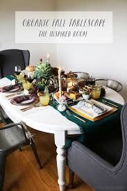 organic thanksgiving tablescape and the inspired room