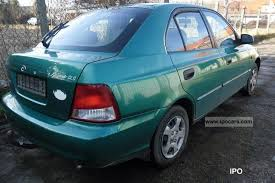 hyundai accent gls specifications 2000 hyundai accent 1 3i gls car photo and specs